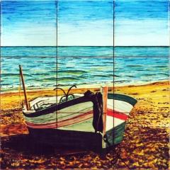 Fishing boat on a beach