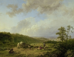 Landscape with an approaching Rainstorm