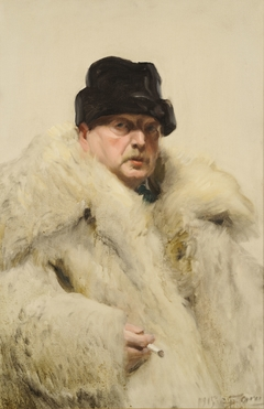Self-Portrait in a Wolfskin