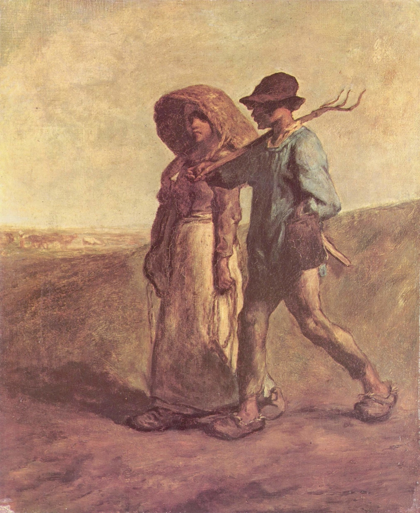 the walk to work jean françois millet artwork on useum the walk to work