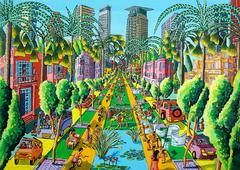 folk artist naive paintings naife art paintings orbanic landscape paintings