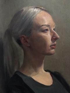 Life portrait painting