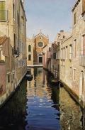 Venezia calle con chiesa / Venice street with church