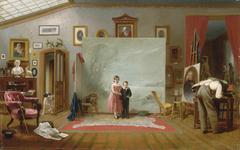 Interior with Portraits