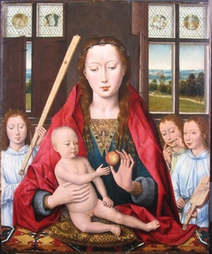 Madonna with Angels making Music