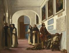 Christopher Columbus and His Son at La Rábida