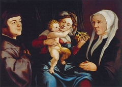 Madonna of the Daffodils with the Christ Child and Donors