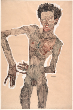 Nude Self-Portrait, Grimacing