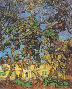 Trees in the garden of the Hospital Saint-Paul