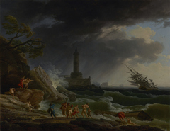 A Storm on a Mediterranean Coast