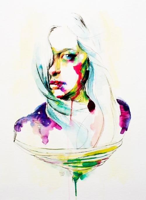 Watercolor head series
