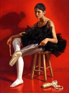 Allegra's Portrait as Ballerina