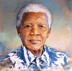 Madiba in blue