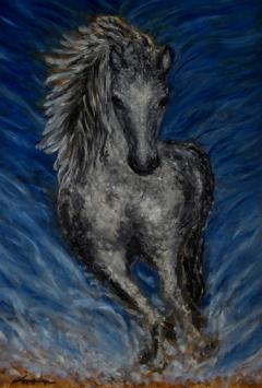 Silver Lusitano Horse